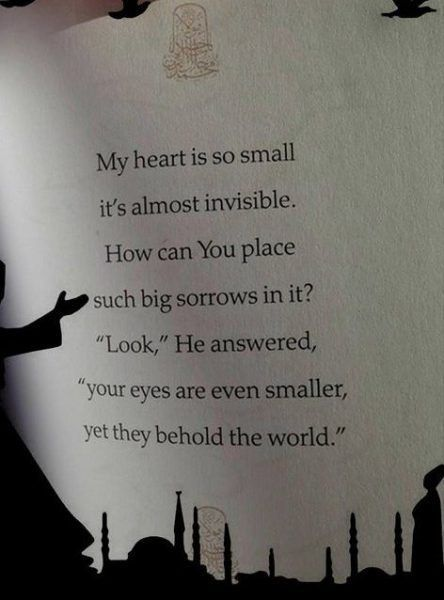 rumi quotes My heart is so small, it's almost invisible