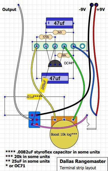 Dallas Rangemaster | Treble booster on vintage hofner guitar schematic, bk drive pedal schematic, treble booster schematic, klon centaur schematic, dyson schematic,