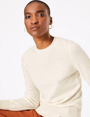 Pure Cashmere Round Neck Jumper | Pure cashmere, Pure