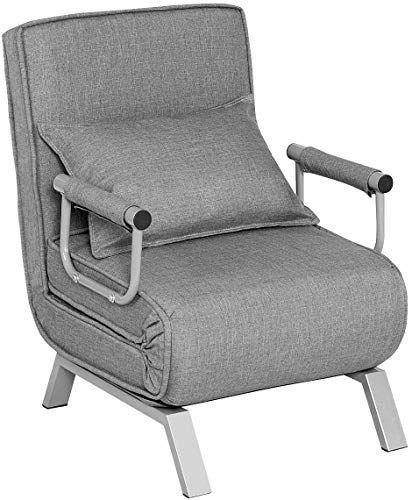 New Giantex Convertible Sofa Bed Folding Arm Chair Sleeper 5 Position Recliner Full Padded Lounger Couch B In 2020 Convertible Sofa Bed Convertible Sofa Sleeper Chair