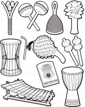Musical Instruments African Instruments Clip Art