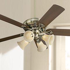 52 Casa Vieja Trilogy Brass Amber Ceiling Fan Ceiling Fan
