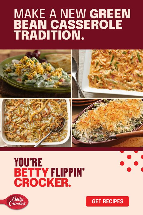 Green bean casserole recipes can be fresh, cheesy, easy, homemade, from scratch, and all of the above. Good thing Betty has the best Thanksgiving green bean ideas on the block. Pin this for your Thanksgiving must-haves, but also for any weeknight comfort meal.