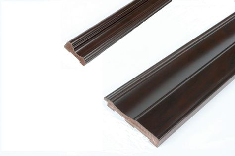 Chair Rail Baseboard Kit Prefinished Ready To Install Fauxwood Espresso 2 Pieces For 1 4 In Wainscot Beadboard Chair Rail Wainscoting Beadboard