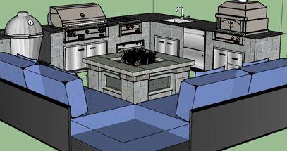 Outdoor Kitchen Planning Design Service Free 3d Sketch Bbq Guys Outdoor Kitchen Plans Outdoor Kitchen Design Kitchen Design Plans