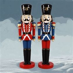10' hand painted Nutcracker pair