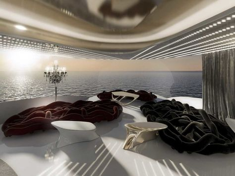 This mega-yacht could have 2 pools, 2 movie theaters, 2 helipads and cost over $1 billion