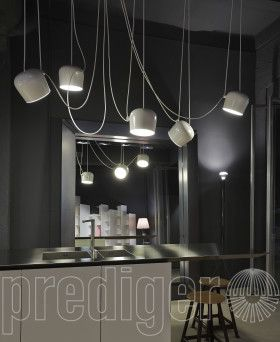 Flos Aim Led Sospensione 5 Pendel Italien Design Italienischesdesign Leuchte Lampe Licht Beleuchtung Prediger Pr Hangende Gluhbirnen Hangeleuchte Led