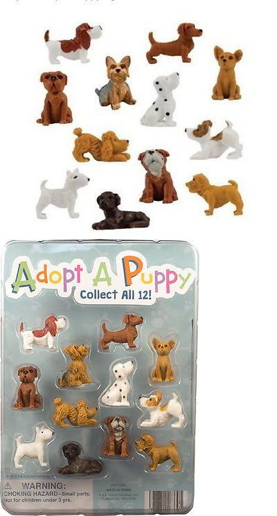 100 WHOLESALE ADOPT A PUPPY SMALL FIGURES CUPCAKE TOPPERS PARTY FAVORS