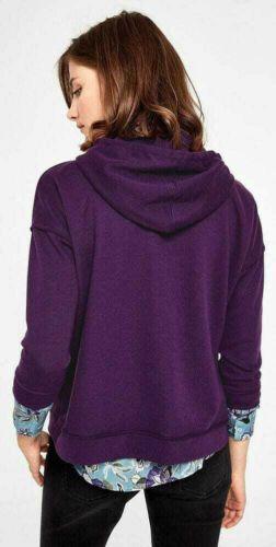S.Oliver Damen Sweatshirt Pullover Hoodie Kapuze purple Neu