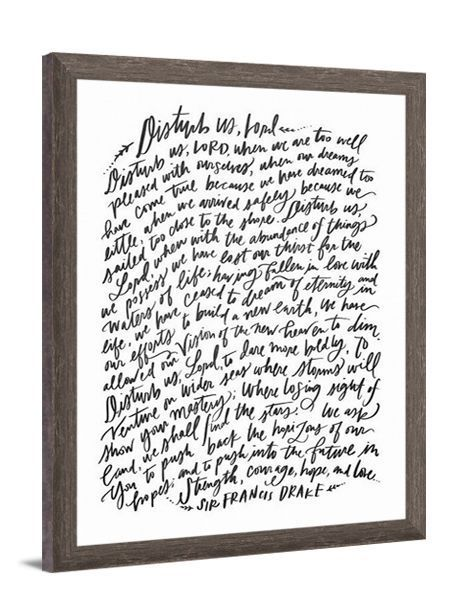 Disturb Us Lord Canvas Art By Lindsay Letters Featuring Poem From Sir Francis Drake