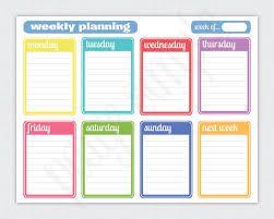 Image Result For Free Printable School Planner Kids Weekly