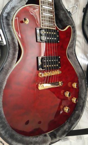 Epiphone Les Paul Custom Prophecy Plus Gx Cherry Red Epiphone Les Paul Custom Epiphone Les Paul