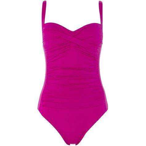 9539a0c3311b2 La Blanca Sweetheart neck swimsuit ($105) ❤ liked on Polyvore featuring  swimwear, one-piece swimsuits, purple, women, la blanca bathing suits, la  blanca, ...