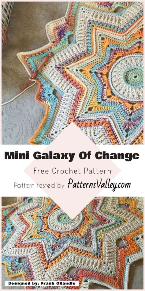 Crochet Afghans Patterns 22 Chic and Trendy Free Crochet Patterns You'll Actually Wear and Use - One of my favorite things to do is crocheting. Nothing beats sitting in my favorite sunlit spot and crocheting a beautiful… Crochet Mandala Pattern, Doily Patterns, Afghan Crochet Patterns, Crochet Squares, Crochet Stitches, Crochet Afghans, Baby Blanket Patterns, Square Patterns, Baby Patterns
