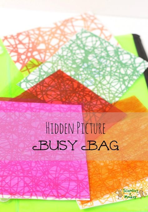 Hidden Picture Busy Bag   Hands-On Learning   Pinterest