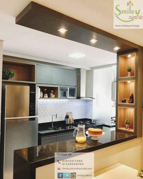 جبس بورد أجدد ديكورات الجبسبورد في مصر 2021 ديكور جبس بورد موردن Kitchen Interior Design Decor Kitchen Furniture Design Kitchen Design Decor