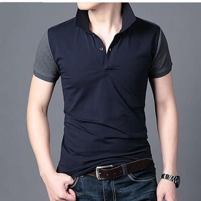 Cotton Shirts Mens Casual Slim Fit Pure Color Long//Short Sleeve Henley Fashion T-Shirts with Button