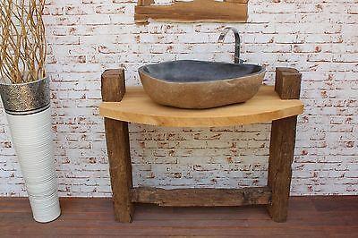 Waschbecken Unterschrank Waschtisch Unterbau Teak Holz Massiv Bad