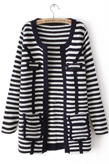Striped Knitted Sweater//