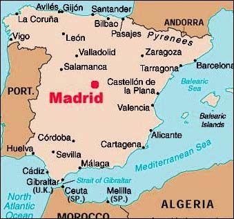 Madrid Capital De España Mapa.Este Mapa Representa Donde Tirso De Molina Nacio La