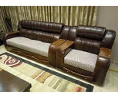 Home Used Leather Sofa In Dha For Sale Good Condition Leather Sofa Home Sofa