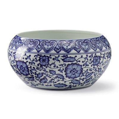 Blue White Chinoiserie Ceramic Cachepot In 2020 White Ceramic Planter Blue And White Blue White Decor