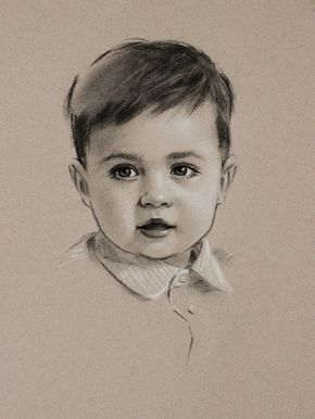 Chalk colored pencil commission baby drawing