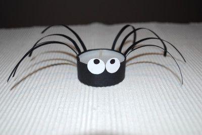 Spinne Mit Teelicht Basteln Halloween Halloween Deko Basteln