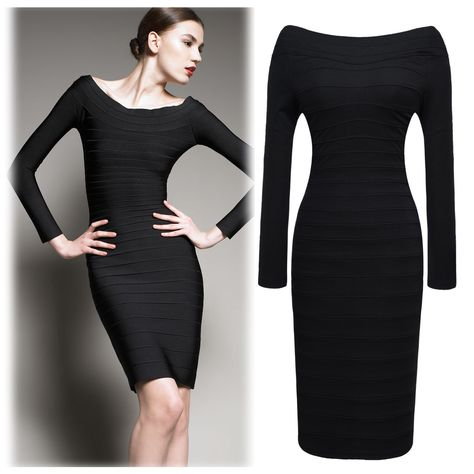 780602bd642 Long Sleeve Quiet Magnificent Wrap Bandage Dress Cocktail Evening Party  Dress Features  Intro  Long Sleeve