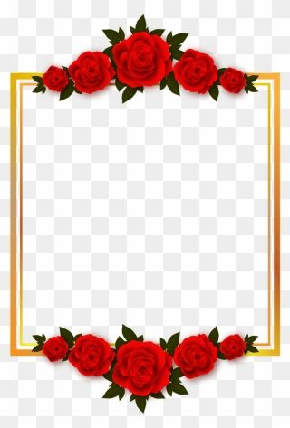 Rose Flower Borders Transparent Background Flower Frame Png Clipart Flower Frame Png Rose Clipart Clip Art