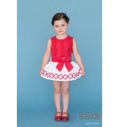ba3f17f59 Conjunto Niña Plumeti Rojo de Dolce Petit Conjuntos Para Niños
