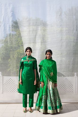 Raw Mango is a brand of contemporary Indian handwoven textiles crafted using traditional techniques.