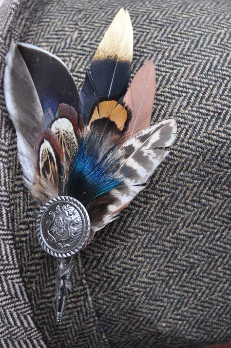 Plume de Paon et Fleurs Style Bridal Hair Comb bâton avec strass