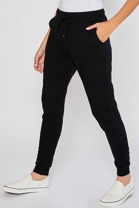 Relaxed Joggers - Black / S