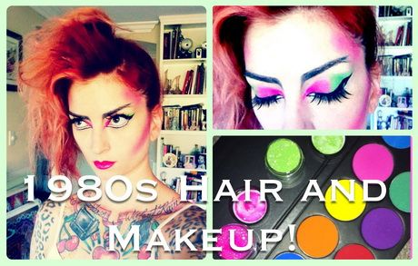 80s Punk Hair Tutorial Foto Video With Images Punk Makeup