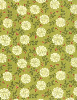 Moda Basicgrey Hello Lucious Zest Blooms Green