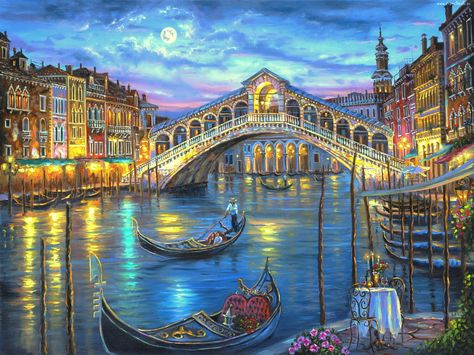 Grand canal, Venecia Landscape Cross Stitch Pattern Counted Cross Stitch Chart, Pdf Format, Instant Download /275209 by icrossstitchpattern on Etsy