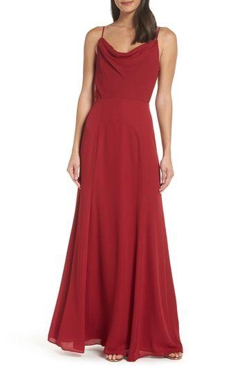 Wayf Shona Joy The Melanie Cowl Neck Gown Stylish Formal Dresses Gowns Chiffon Gown