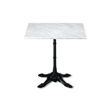 Square Bistrot Table With Marble Top Furniture For Restaurants