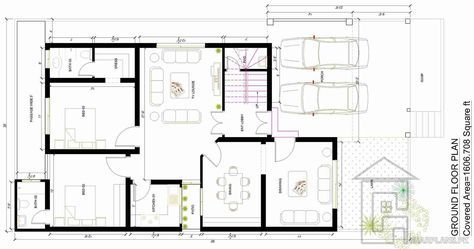 10 Marla House Map With Basement Ground Floor House Map 2 Storey House Design Home Design Plans