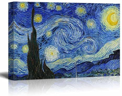 Wall26 Canvas Print Wall Art Starry Night By Vincent Van Gogh Reproduction On Canvas Stretc In 2021 Starry Night Van Gogh Canvas Art Wall Decor Starry Night Painting
