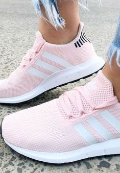 Pink Adidas sneakers - Pink Adidas Swift Run sneakers for women ...