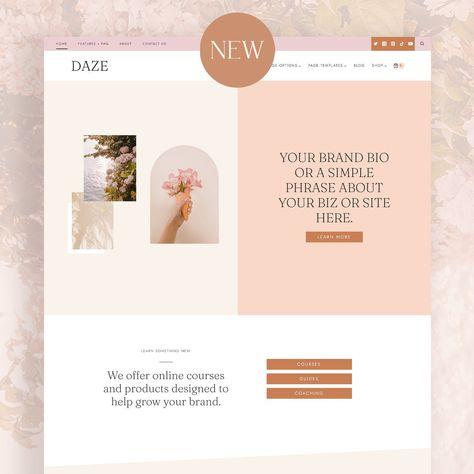 BRAND NEW - Daze WordPress Theme - Coaching, Shop, Blog theme - Kadence Child Theme