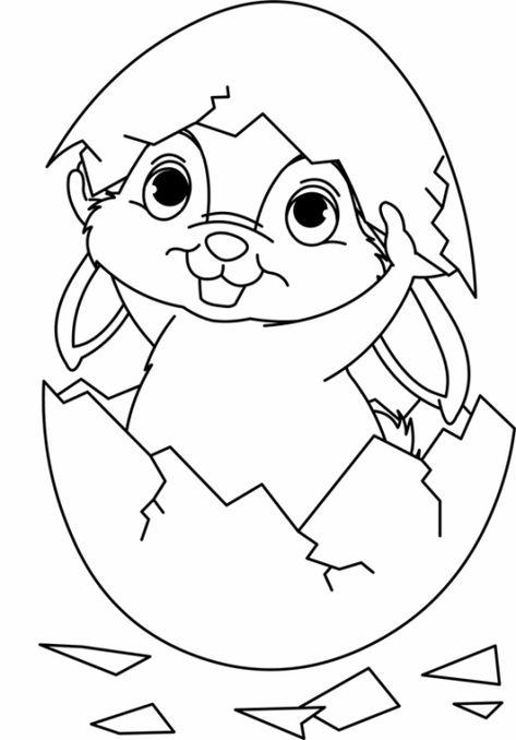 ausmalbild osterhase mit eiern - malbild