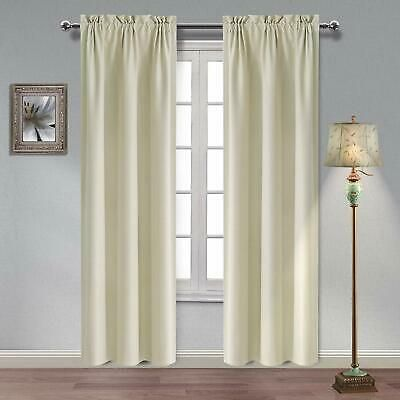 Hiasan Thermal Insulated Blackout Curtains 84 Inches Long Sun Blocking And Noise In 2020 Insulated Blackout Curtains Thermal Insulated Blackout Curtains Blackout Drapes