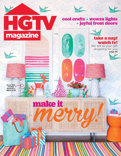 Wanna copy this bright and cherry Christmas cover look? Check it out on HGTV.com.