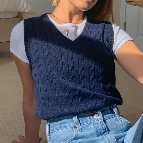 British Style Knitted Vest
