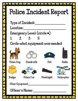 Police Station Sample Freebie Color Version Dramatic Play Preschool People Who Help Us Community Helper Dramatic Play