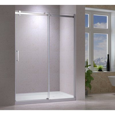 Jade Bath Quartz 48 X 78 Single Sliding Frameless Shower Door